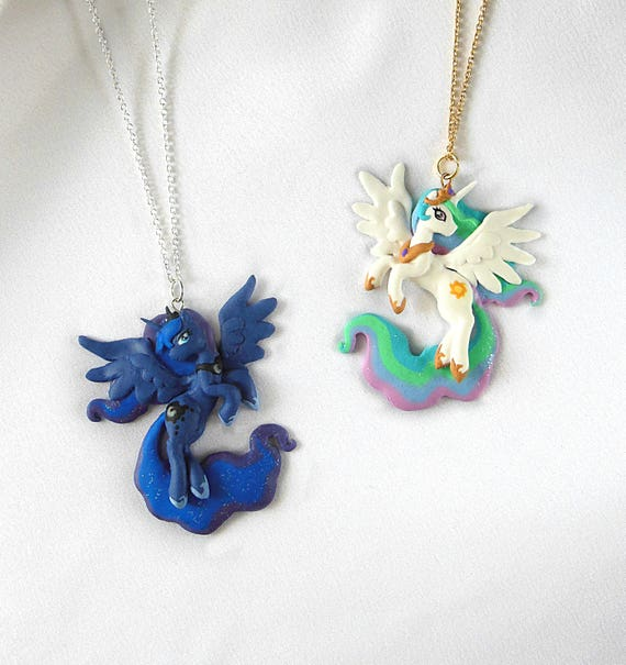 My little pony celestia luna pendants luna necklace aloadofball Gallery
