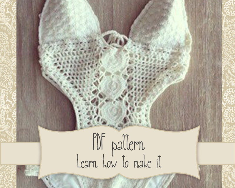 Pattern For White Crochet Swimsuit Onepiece Crochet Lace