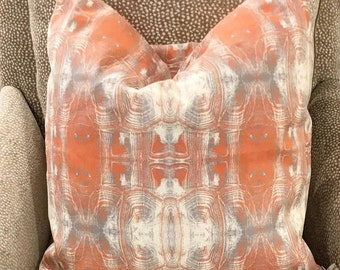 "Tortoiseshell Coral Pillow 18"""