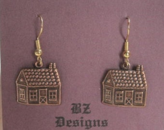 Up North Cabin Earrings