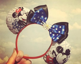 Mickey Mouse and Minnie Mouse inspired Disney ears