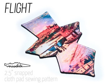 "GEO Flight | Cloth Pad Pattern | 5 lengths bundle | 2.5"" Snapped Width"