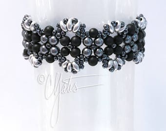Lacy black and gray bracelet