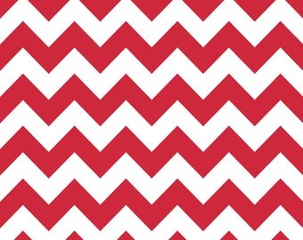 Riley Blake Designs, Medium Chevron in Red (C320 80)