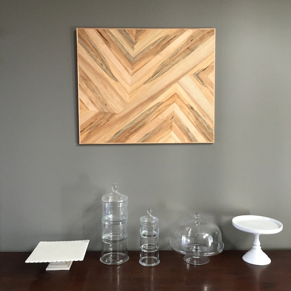 wood wall hanging made of spalted maple ash maple veneer.