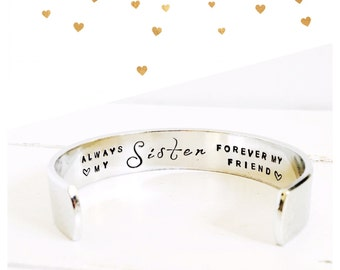 Womens gift | Gifts for Sisters | Gift ideas for Sisters | Sisters Gifts | Always my Sister forever my friend | Gift ideas for her (C013)