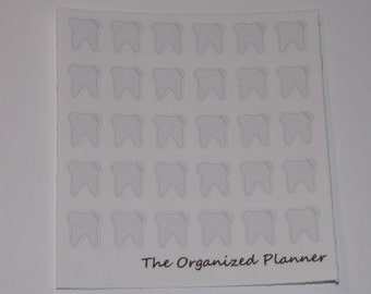 Mini Teeth Stickers / Dentist Stickers / Appointment Stickers / Planner Stickers