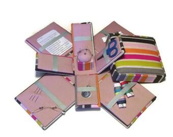 Etui Sewing Kit Needlework Box Striped