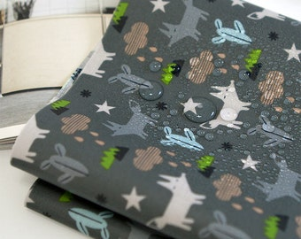 Fox Laminated Cotton Fabric - Fabric By the Yard 89323