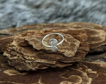 Inspiral Silver Toe Ring