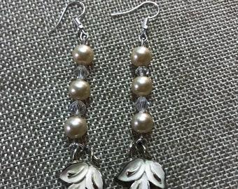 Dangling Leaf Charm Earrings