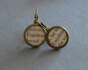 Enjolras Les Miserables Earrings