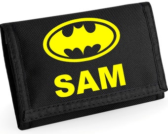 Personalised Batman Wallet - *Choice of colours*
