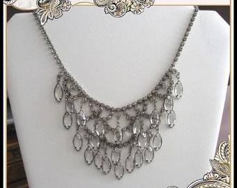 Juliana Bezel Set Crystal and Rhinestone Necklace 1950s