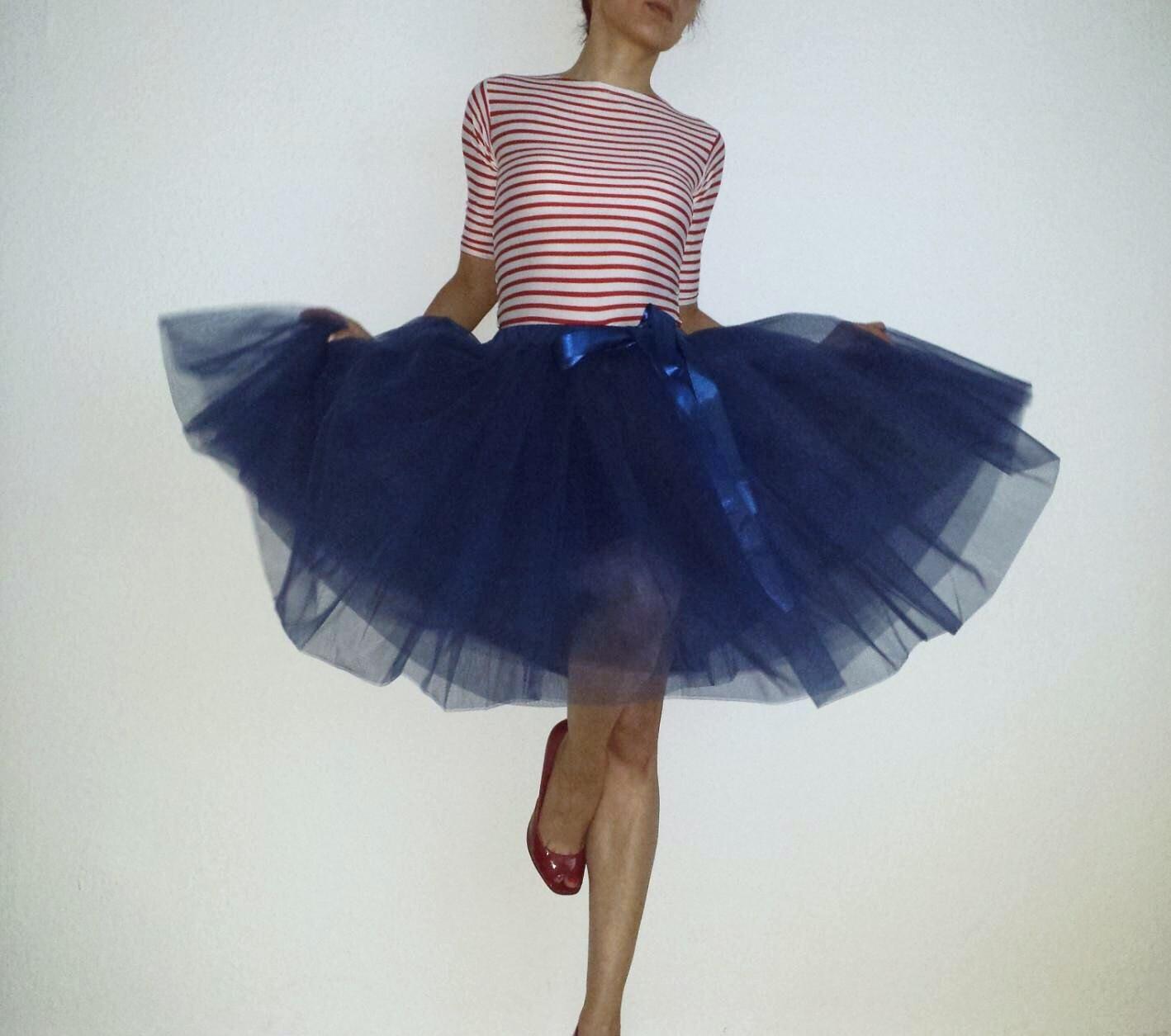Tulle Petticoat Marine 55 cm skirt