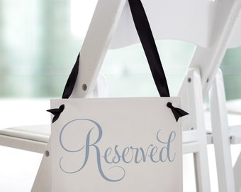 """Reserved Sign Seat Banner 