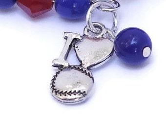 Baseball Mom Team Spirit Sportswear - Baseball Charm Bracelet