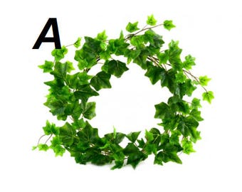 Wreath Artificial Ivy Green Leaves Round Garland