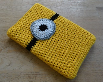 Minion Cover for Macbook, Microsoft Surface, DS, 3DS, DS Lite Customised Notebook or Laptop, Hand Crocheted to Order in Australia