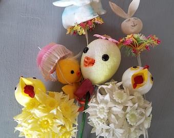 So Sweet  Easter Pix Pics Decoration bunny Chick Retro