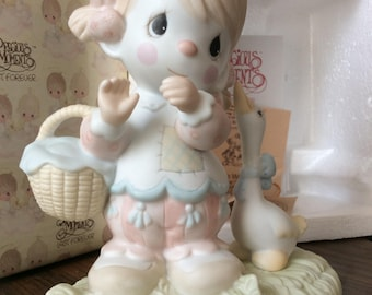 Vintage Enesco / 1985 PRECIOUS MOMENTS COLLECTION / Waddle I Do Without You / Porcelain Figurine