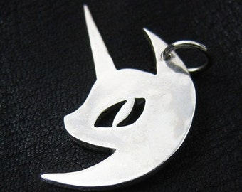 Silver Nightmare Moon pendant