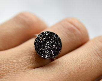Glitter Dot Sterling Silver Ring