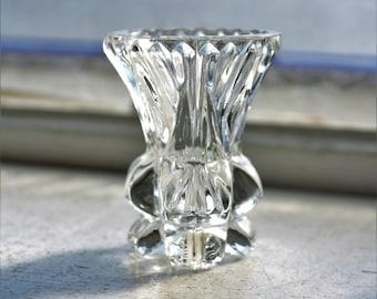 Vintage Crystal Toothpick Holder West Germany