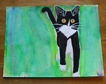 CUSTOM Cat Watercolor