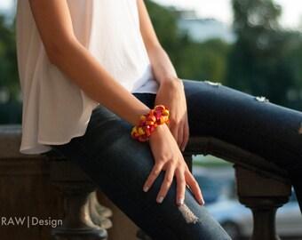 Color Bracelet, Eco-Friendly Jewelry, Summer Jewelry, Multicolor Bracelet, Statement Bracelet