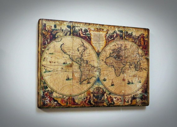 World map on wood rustic wall decor map on wood globeearth map world map on wood rustic wall decor map on wood globeearth map wooden world map wooden wall decor handmade from printedwoodphoto on etsy studio gumiabroncs Gallery