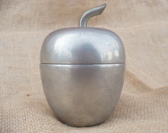 Vintage Woodbury Pewter Apple, Pewter Trinket Box