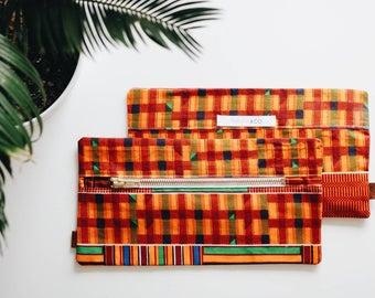 African Wax Print Bag / African Wax Print Makeup Pouch / Versatile Bag - PAPAYA & CO - #HAITICHERIE