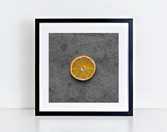 orange // food photography print // kitchen decor // kitchen wall art  // dining room wall art // rustic wall art // citrus fruit