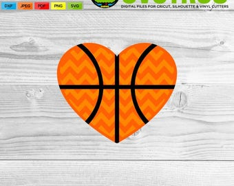 Basketball SVG Heart SVG Basketball Mom SVG Basketball Shirts Cricut Files Silhouette Files Digital Cut Files svg cut files Basketball Decor