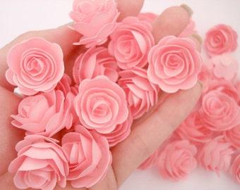 Set of 50Pcs - Handmade Pink 3D MINI Paper Rose