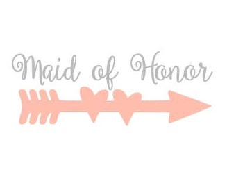 Maid of Honor Wedding downloadable cut file for cutting machines - SVG DXF EPS ps Studio3 Studio