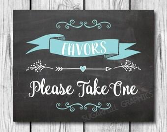 Chalkboard Favors Sign, Printable Favors Sign, Favors Sign, Baby Shower Favors Sign, Wedding Decor, Wedding Signage, Instant Download