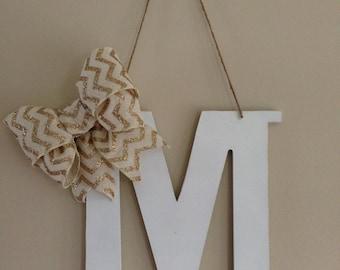 handmade door monogram!
