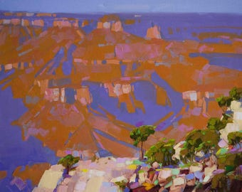 Grand Canyon Landscape oil Painting Original Handmade One of a Kind Signed