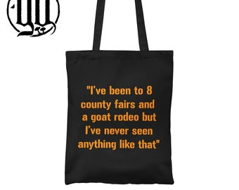 I've been to 8 county fairs Tote Bag - Orange on Black