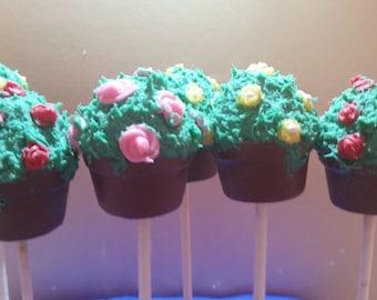 Mother's Day Flower Pot Cake Pops 1 Dozen (12)