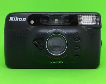 Nikon AW35 f/3.5 35mm Lens *All Weather* Autofocus Point and Shoot 35mm Compact Film Camera