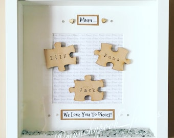 JIgsaw Frame 'We love you to pieces'