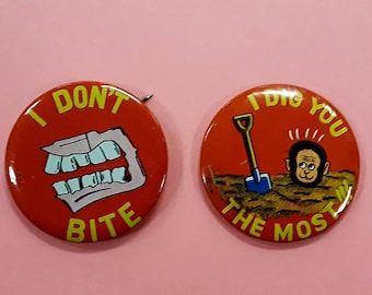 Pair of Vintage Novelty Pins