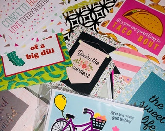 A set of 20 assorted occasions greeting cards