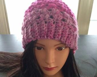 Crochet coeur chapeau-femme