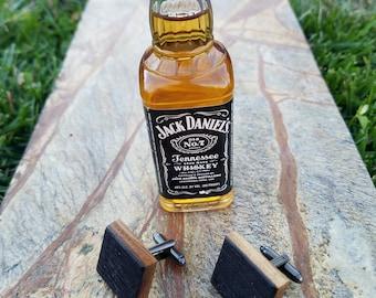 Authentic jack daniels whiskey barrel cufflinks