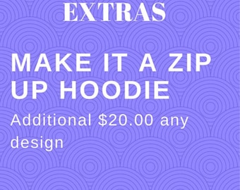 Make ANY listing a Zip Up swearshirt