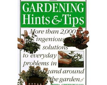Vintage Gardening Book ,Gardening Hints and Tips Home & Garden, Illustrated, Paperback, Vintage 1996